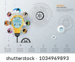 idea concept for business... | Shutterstock .eps vector #1034969893