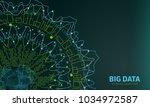 big data visualization.... | Shutterstock . vector #1034972587