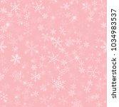white snowflakes seamless... | Shutterstock .eps vector #1034983537