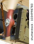 Small photo of Spinning airplane propeller