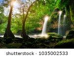 heo suwat waterfall khao yai... | Shutterstock . vector #1035002533