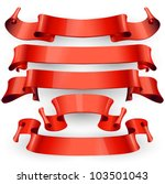 red glossy vector ribbons on a... | Shutterstock .eps vector #103501043