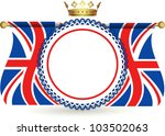 union jack flags and crown... | Shutterstock .eps vector #103502063