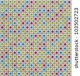 3d render multiple color sound... | Shutterstock . vector #103502723
