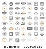 set luxury monogram logo... | Shutterstock .eps vector #1035036163
