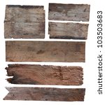 Old Plank Of Wood Isolated On...
