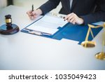 a business woman working on the ...   Shutterstock . vector #1035049423