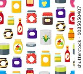 cartoon canned  preserve and... | Shutterstock .eps vector #1035050407
