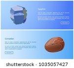 sapphire and carnelian precious ... | Shutterstock .eps vector #1035057427