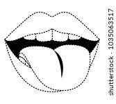 sensuality lips with tongue out | Shutterstock .eps vector #1035063517