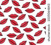 sensuality lips pattern... | Shutterstock .eps vector #1035064843