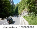 tourists bikers traveling in...   Shutterstock . vector #1035080503