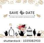 save the date. wedding... | Shutterstock .eps vector #1035082933
