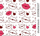 sensuality lips and hearts... | Shutterstock .eps vector #1035083107