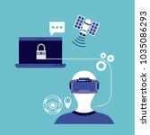 virtual reality technology set... | Shutterstock .eps vector #1035086293