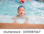 cute little asian 18 months   1 ... | Shutterstock . vector #1035087667