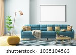 modern interior of living room... | Shutterstock . vector #1035104563