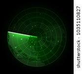 realistic vector radar in... | Shutterstock .eps vector #1035110827