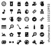 flat vector icon set   scraper... | Shutterstock .eps vector #1035110953