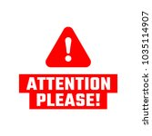 attention please badge. red... | Shutterstock .eps vector #1035114907