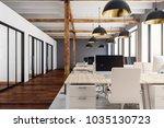 new coworking office interior... | Shutterstock . vector #1035130723