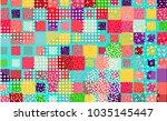 colorful mempis design... | Shutterstock .eps vector #1035145447