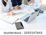 teamwork of business colleagues ... | Shutterstock . vector #1035147643