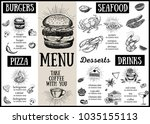 restaurant cafe menu  template... | Shutterstock .eps vector #1035155113