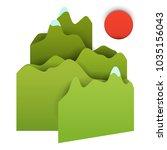 3d vector paper cut green... | Shutterstock .eps vector #1035156043