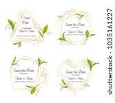 wedding invitation floral... | Shutterstock .eps vector #1035161227