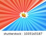 versus letters fight... | Shutterstock . vector #1035165187