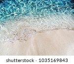 blue crystal water and white... | Shutterstock . vector #1035169843