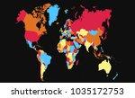 color world map vector | Shutterstock .eps vector #1035172753