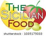 logo for restaurants with... | Shutterstock .eps vector #1035175033