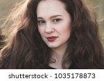beautiful brunette woman... | Shutterstock . vector #1035178873