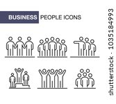 business people icons set... | Shutterstock .eps vector #1035184993