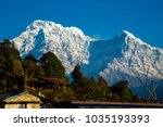 annapurna south  a mountain in... | Shutterstock . vector #1035193393