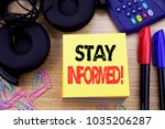 word  writing stay informed.... | Shutterstock . vector #1035206287