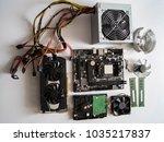 pc repair.pc spare parts. video ...   Shutterstock . vector #1035217837