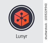 lunyr  blockchain sign icon.... | Shutterstock .eps vector #1035229543