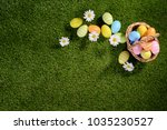 above top view of multi colored ... | Shutterstock . vector #1035230527