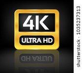 4k ultra hd icon   Shutterstock .eps vector #1035237313