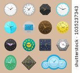 clock vector watch different... | Shutterstock .eps vector #1035237343