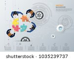 business meeting and... | Shutterstock .eps vector #1035239737