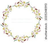 wreath with plants and forest... | Shutterstock .eps vector #1035248593