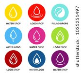 vector set of abstract color... | Shutterstock .eps vector #1035251497