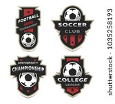 set of soccer football logo ...   Shutterstock . vector #1035258193