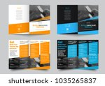 vector bifold brochure for... | Shutterstock .eps vector #1035265837