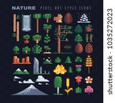 Nature Pixel Art 80s Style...