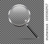 realistic magnifying glass on... | Shutterstock .eps vector #1035302917